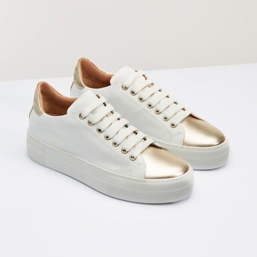 scarpe con punta oro
